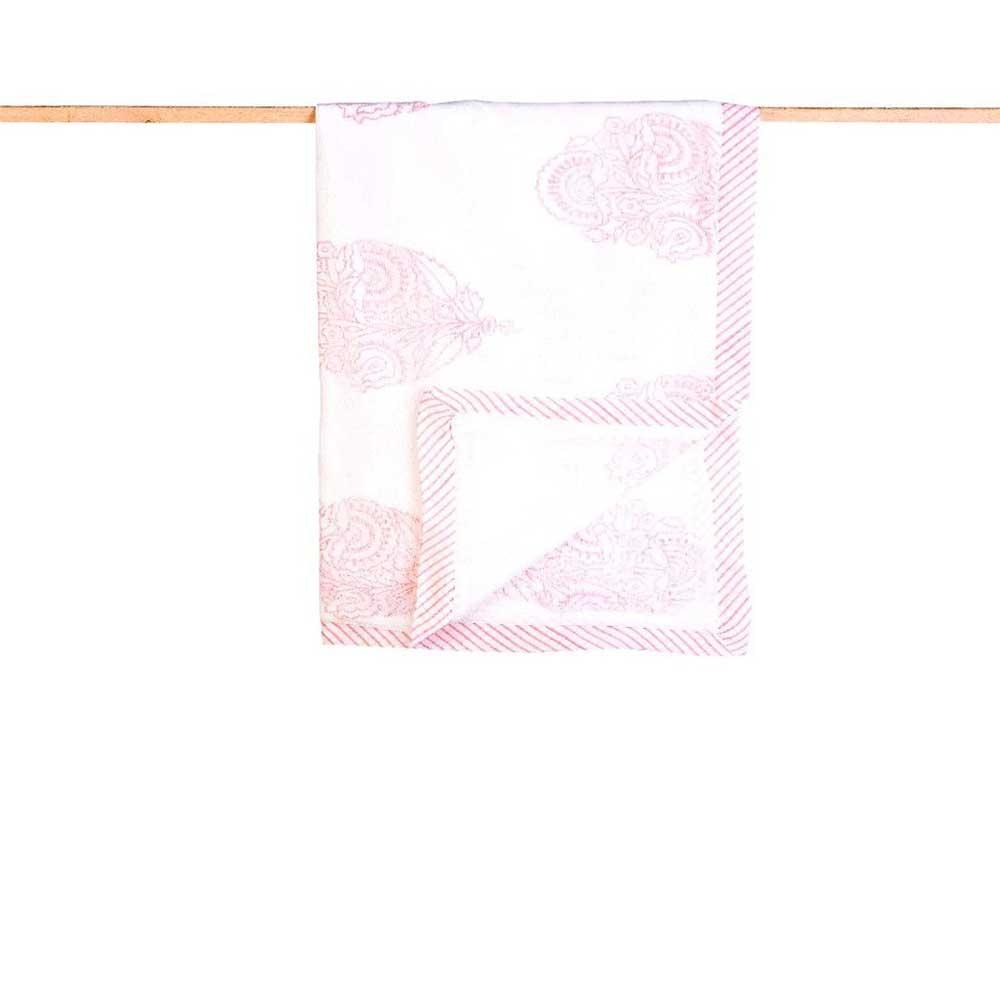 Receiving Blankets - Organic Cotton, Hand Block Printed Pink City