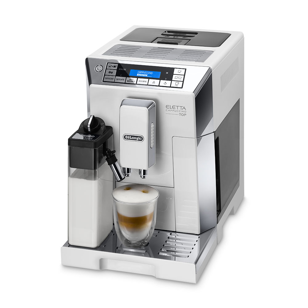 De Longhi Eletta Fully Automatic Coffee Machine  White - ECAM45.760W