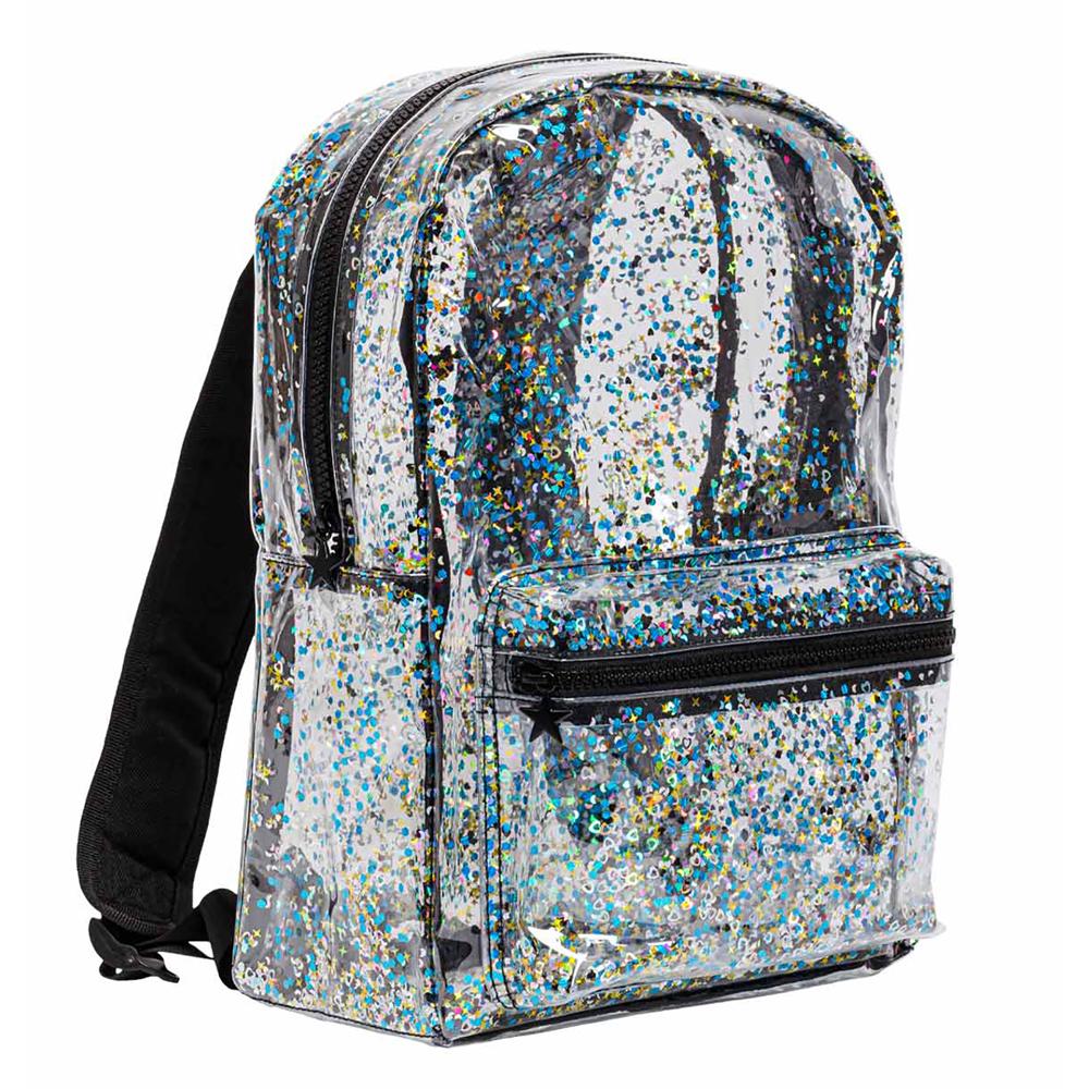 Backpack - Glitter - transparent/black