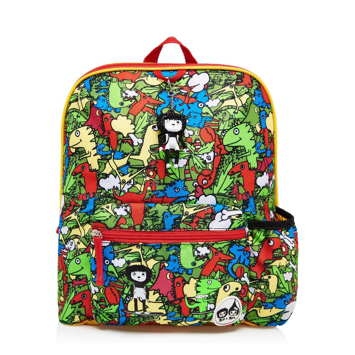 Zip and Zoe Midi Kid's Backpack (3-7Y) Dino Multi