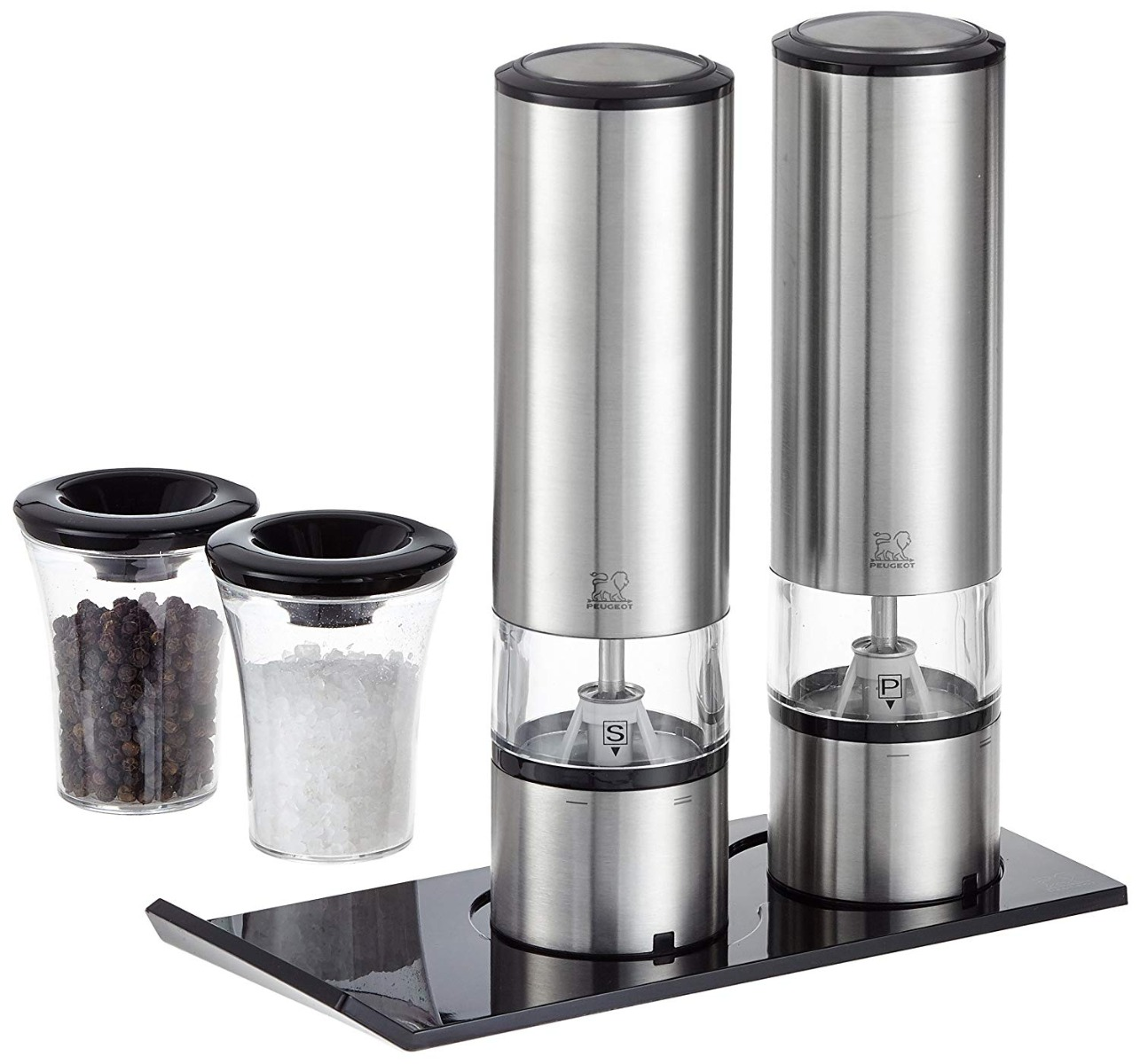 Elis Sense DUO Salt & Pepper Set with tray