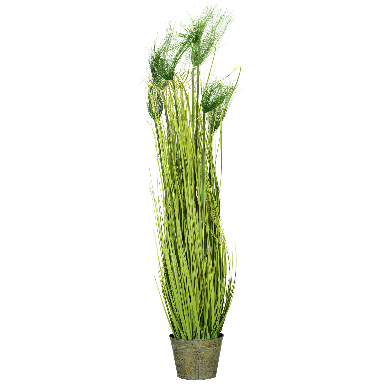 LS Artificial Cycas Grass With Metal Pot