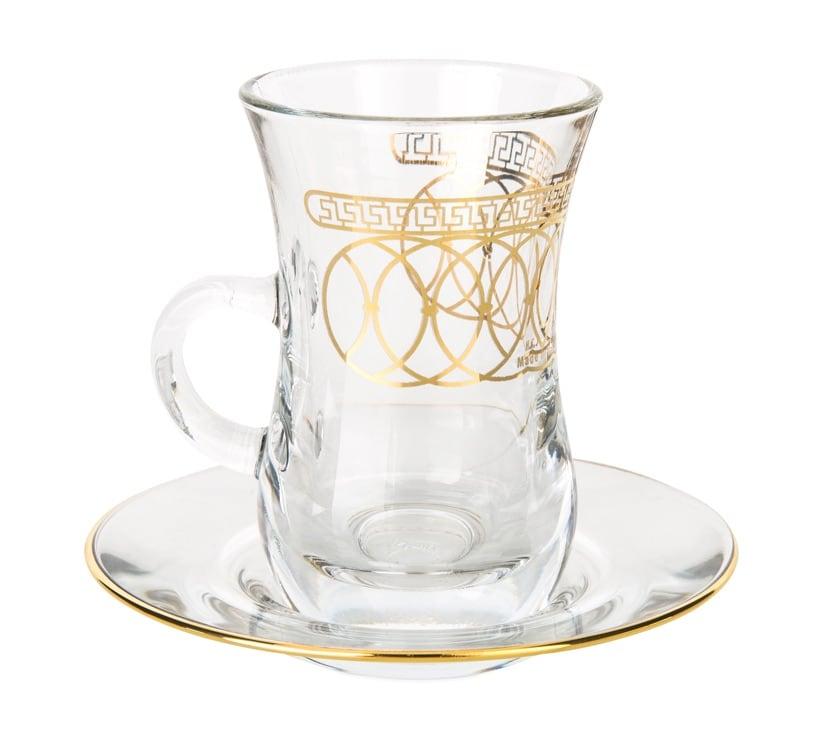 Dimlaj - Tea Glass set&saucer Nile Gold