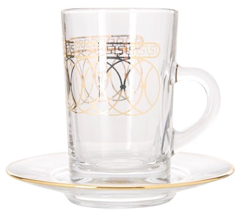 Dimlaj - Tea Glass set & saucer Nile Gold/12pcs