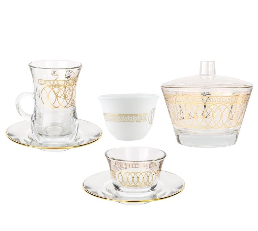 Dimlaj - Coffee & Tea Glass set Nile Gold