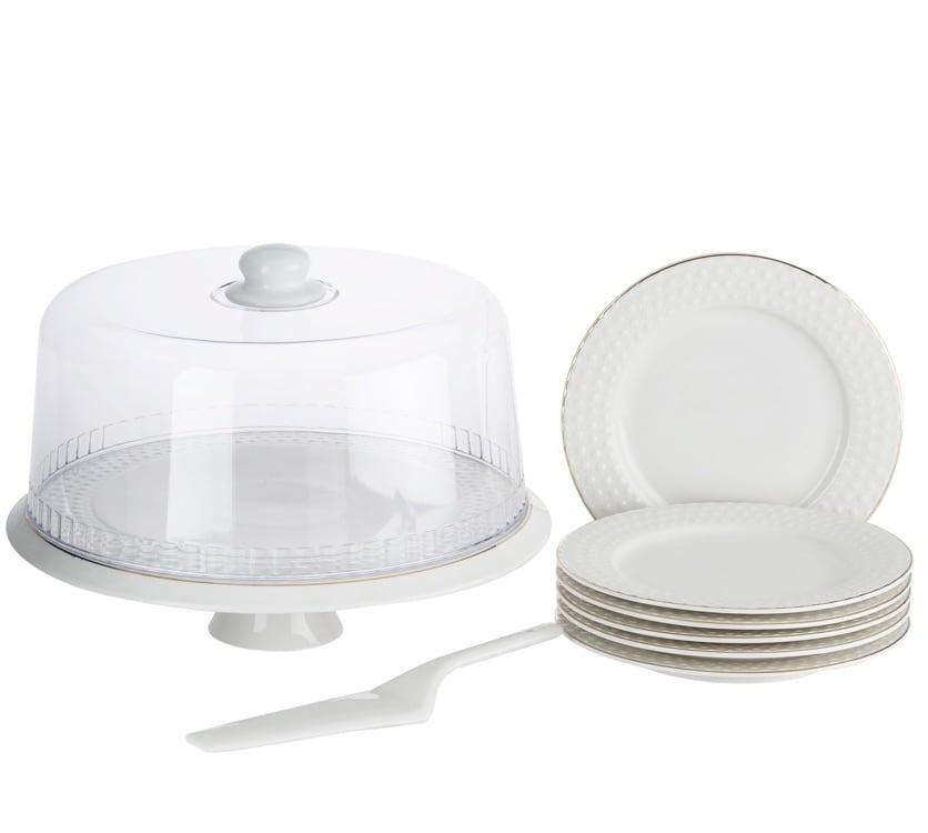Dot Design 9PCS CAKE PLATE SET