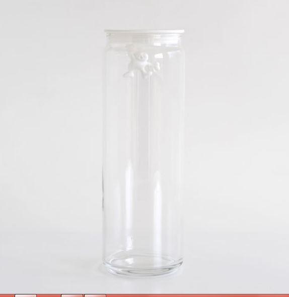 برطمان زجاجيّ مع غطاء جياني أبيض، 2 ليتر، أليسي-Alessi