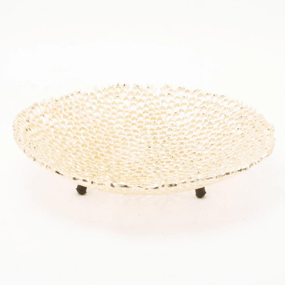 Alexander Bras Mesh Platter/Centrepiece Gold Finished Aluminum - 918007