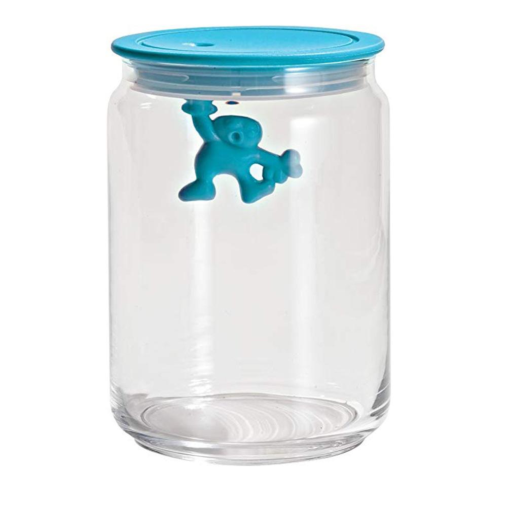 Alessi  Jar Glass Gianni LID 90CL Blue