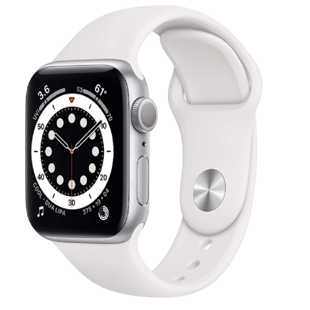 Apple Watch Series 6 (GPS, 40mm) - Silver Aluminum Case with White Sport Band