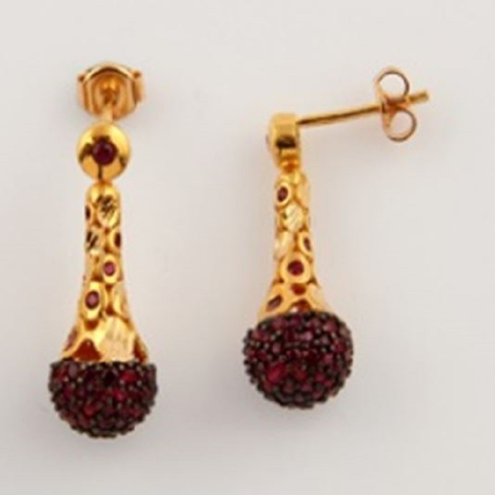 ASG Earrings with Garnet Stones