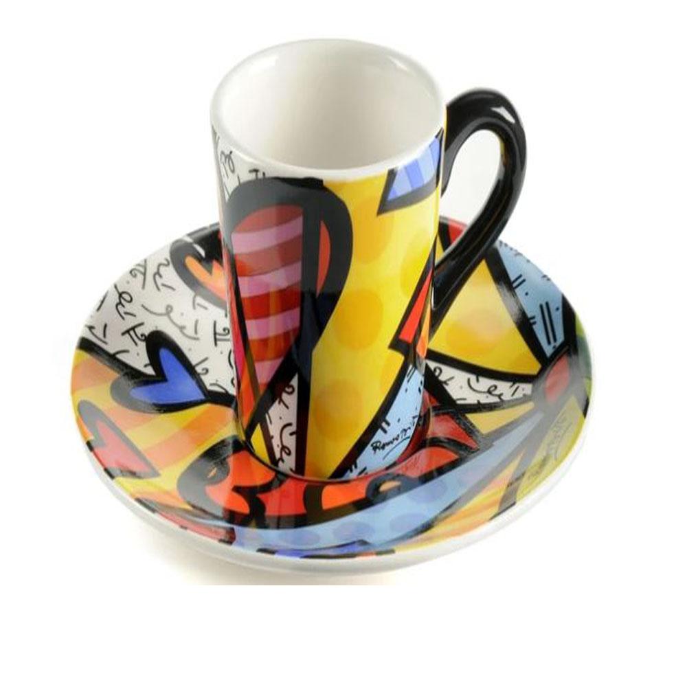 Britto Ceramic A New Day Espresso Set