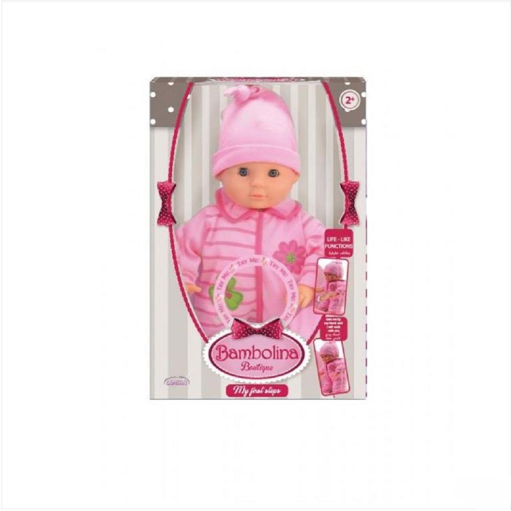 Bambolina 33cm Baby Training Walking Doll