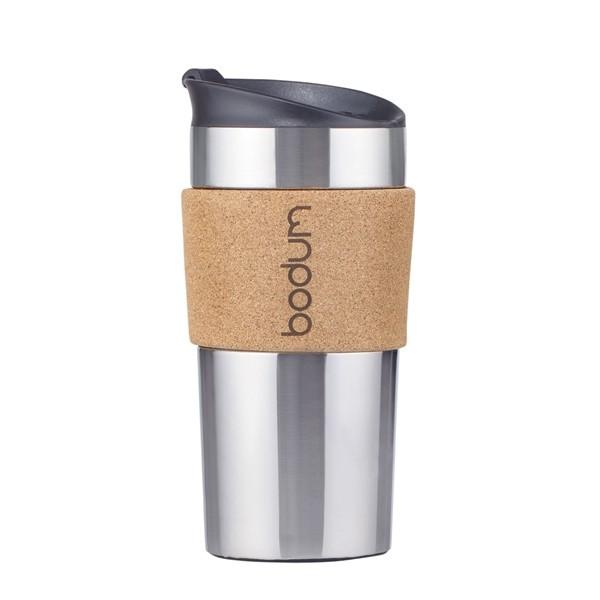 Stainless Steel Vacuum Travel Mug, Cork