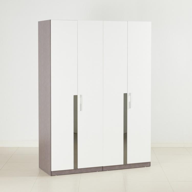 Betrib Teen 4 Door Wardrobe - High Gloss White