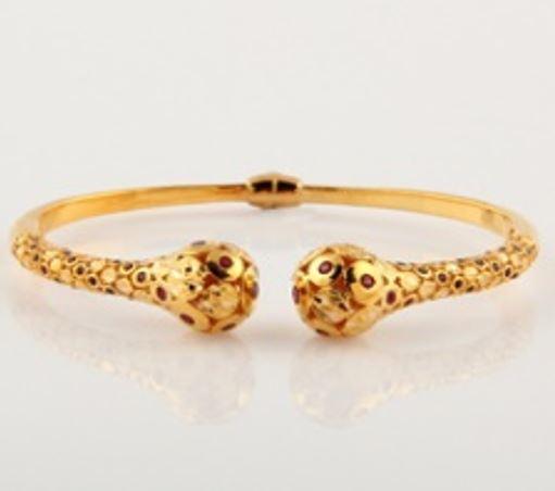 ASG Bangle With Garnet Beads