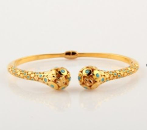 ASG Bangle with Turquoise Beads