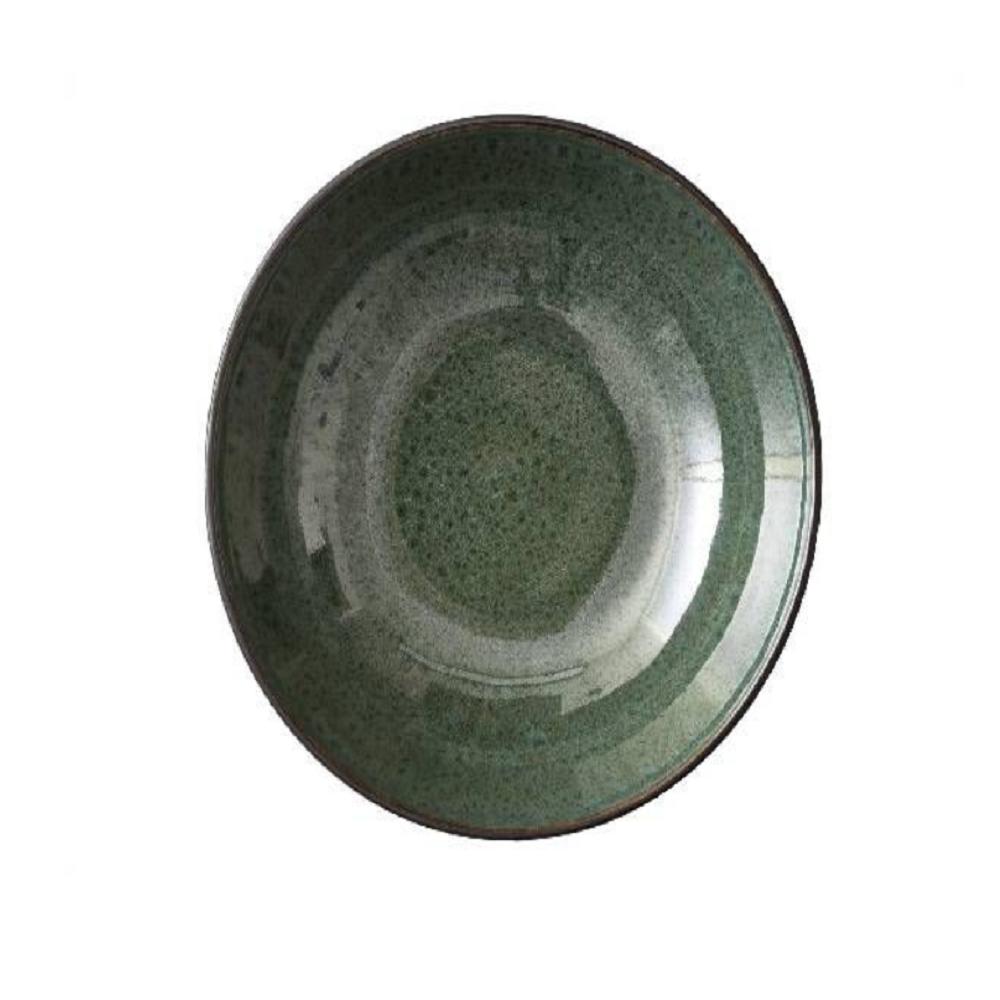 Bitz Stoneware Salad Bowl, Green, 30cm