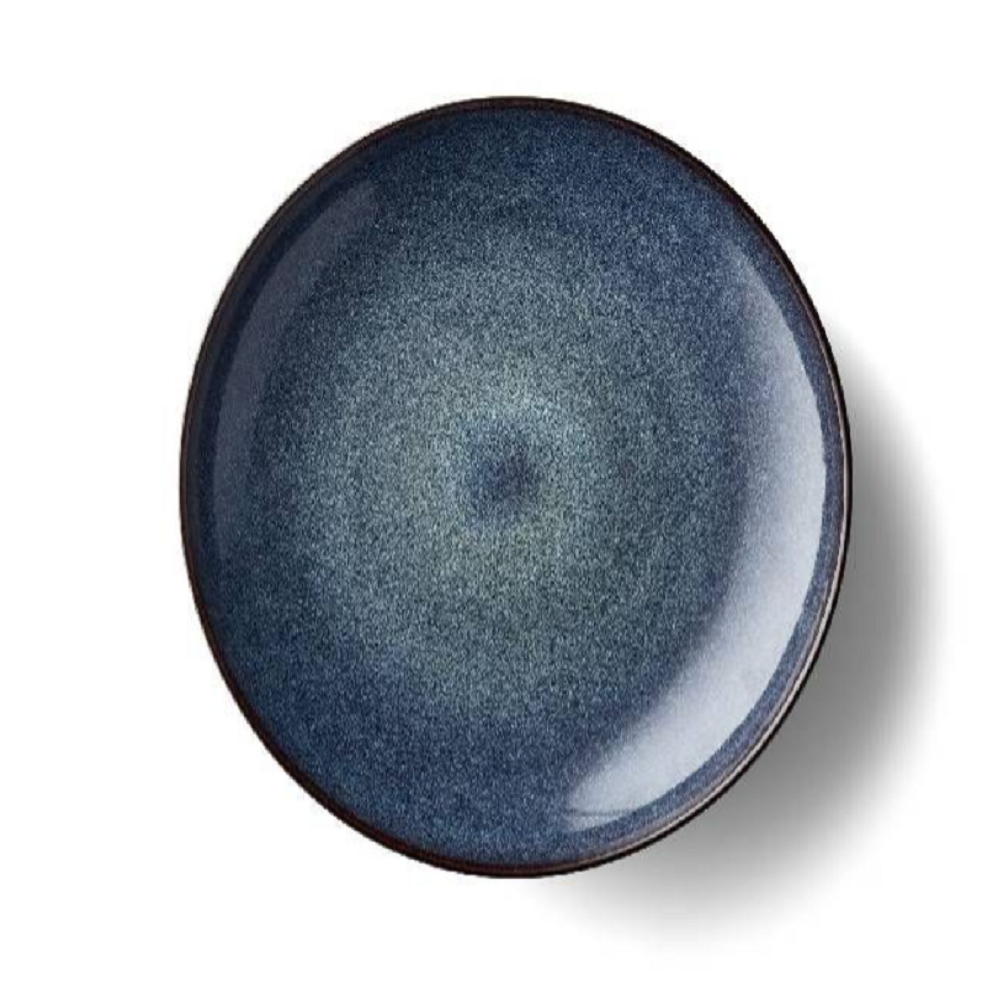 Bitz Round Stoneware Serving Bowl, Dark Blue, 40cm