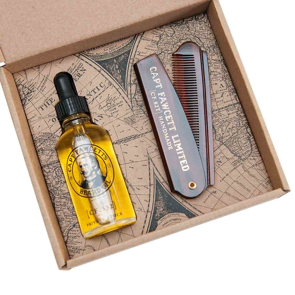 Captain Fawcett Beard Oil And Comb Gift Set