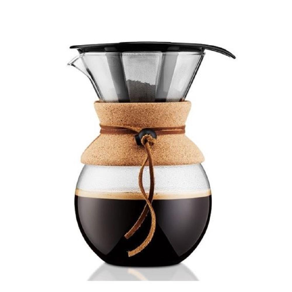 صانعة قهوة بالتنقيط بور أوفر مع ربطة فلّين، 1 ليتر، بودم-Bodum