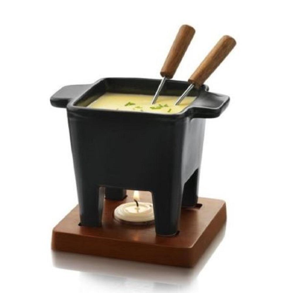 طقم فوندو جبنة، لون أسود، بوسكا-Boska