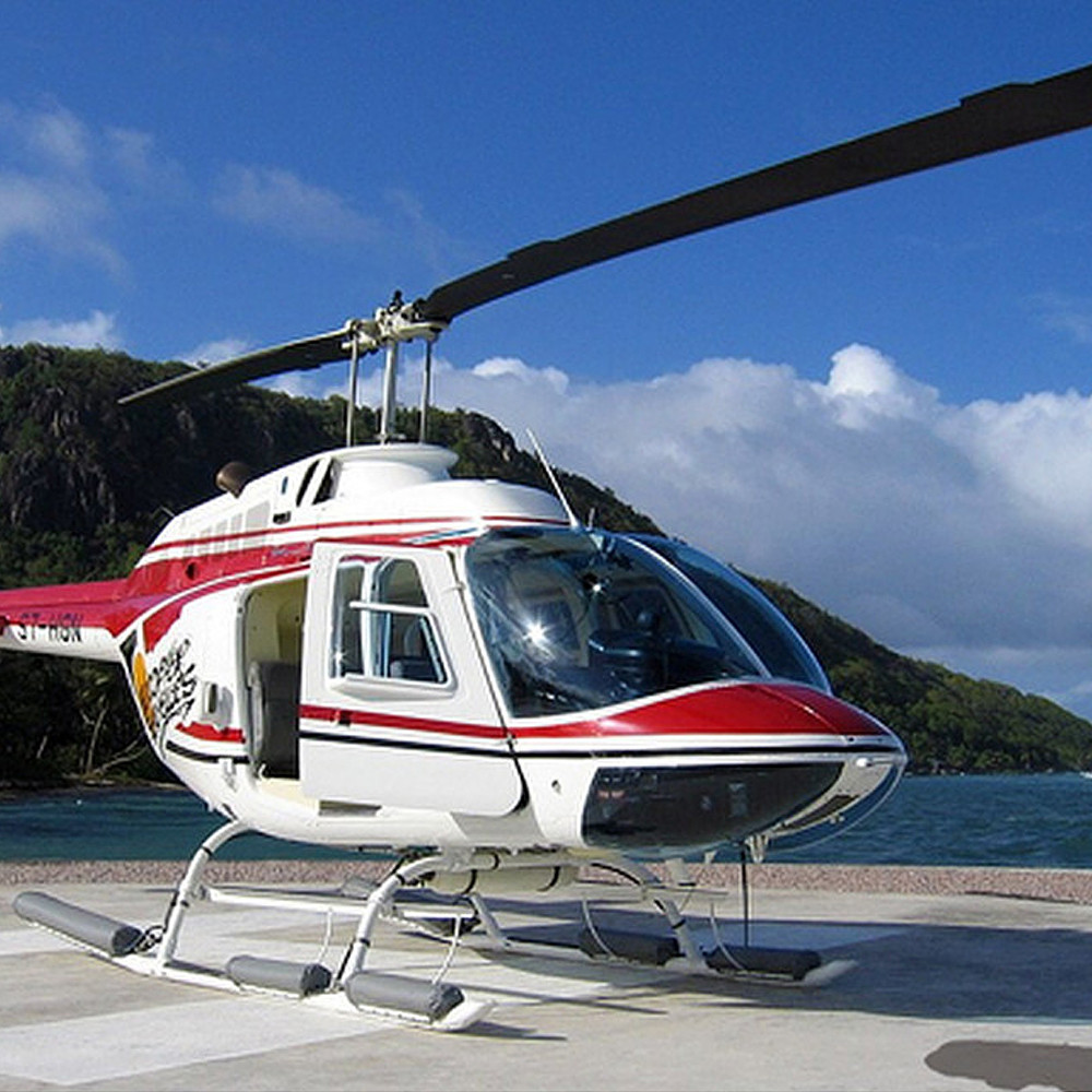 Al Arabi Travel Agency Seychelles Helicopter Tour Contribution