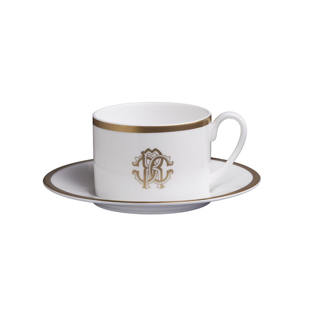 Roberto Cavalli SILK GOLD Tea Cup & Saucer