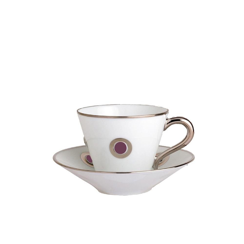 Bernardaud Ithaque Cup and Saucer Plum