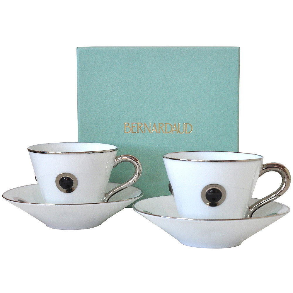 Bernardaud Ithaque Cup and Saucer Gift Se t