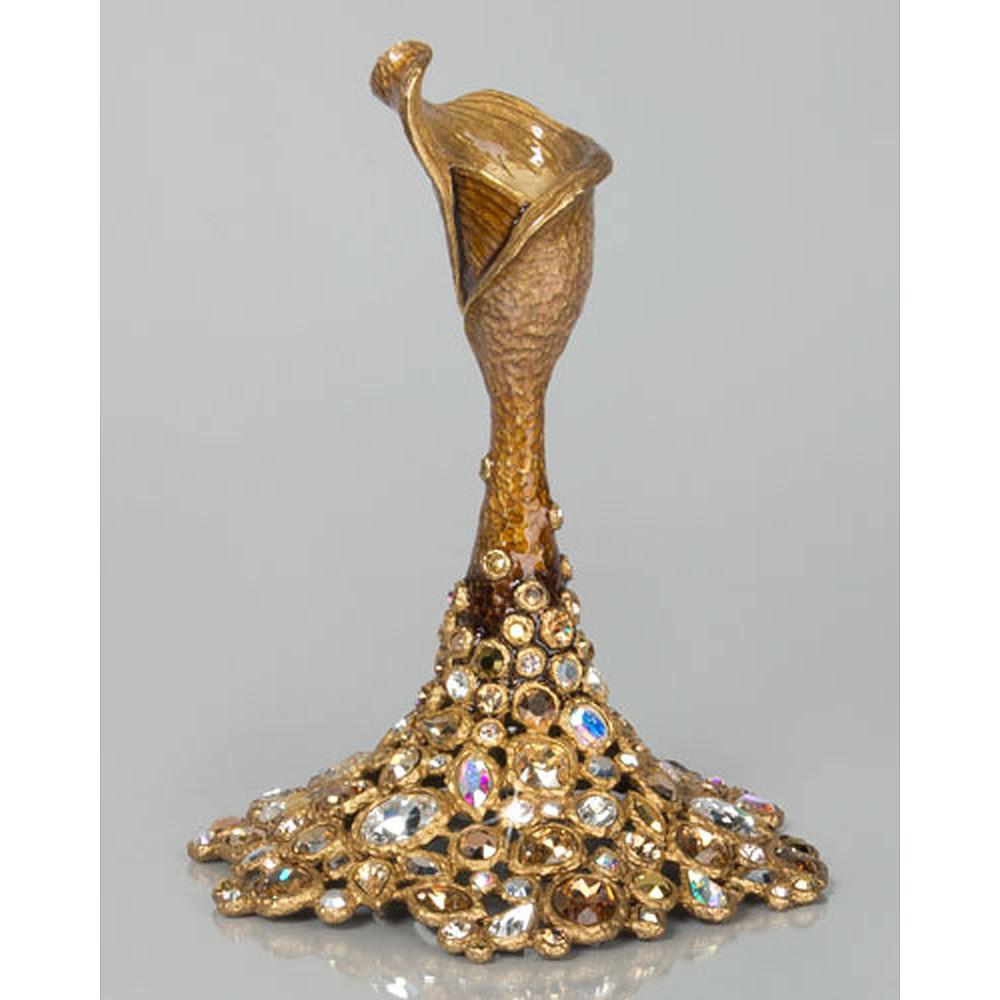 Platinum Bejeweled Candlestick