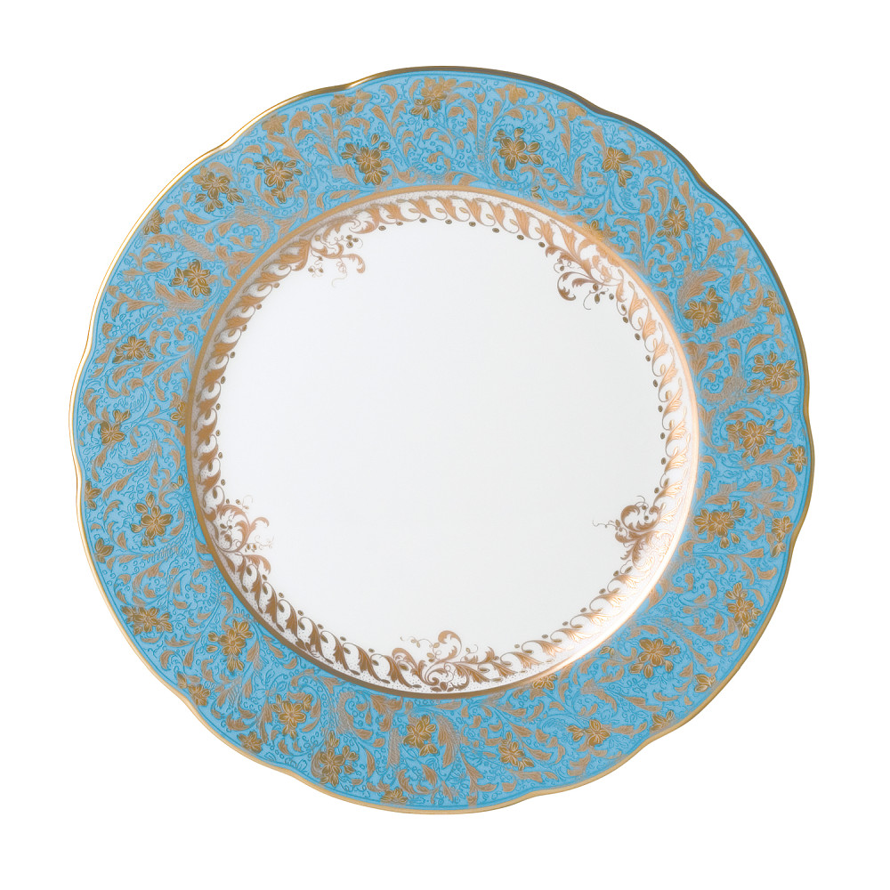 Bernardaud Eden Turquoise Rim Soup Plate