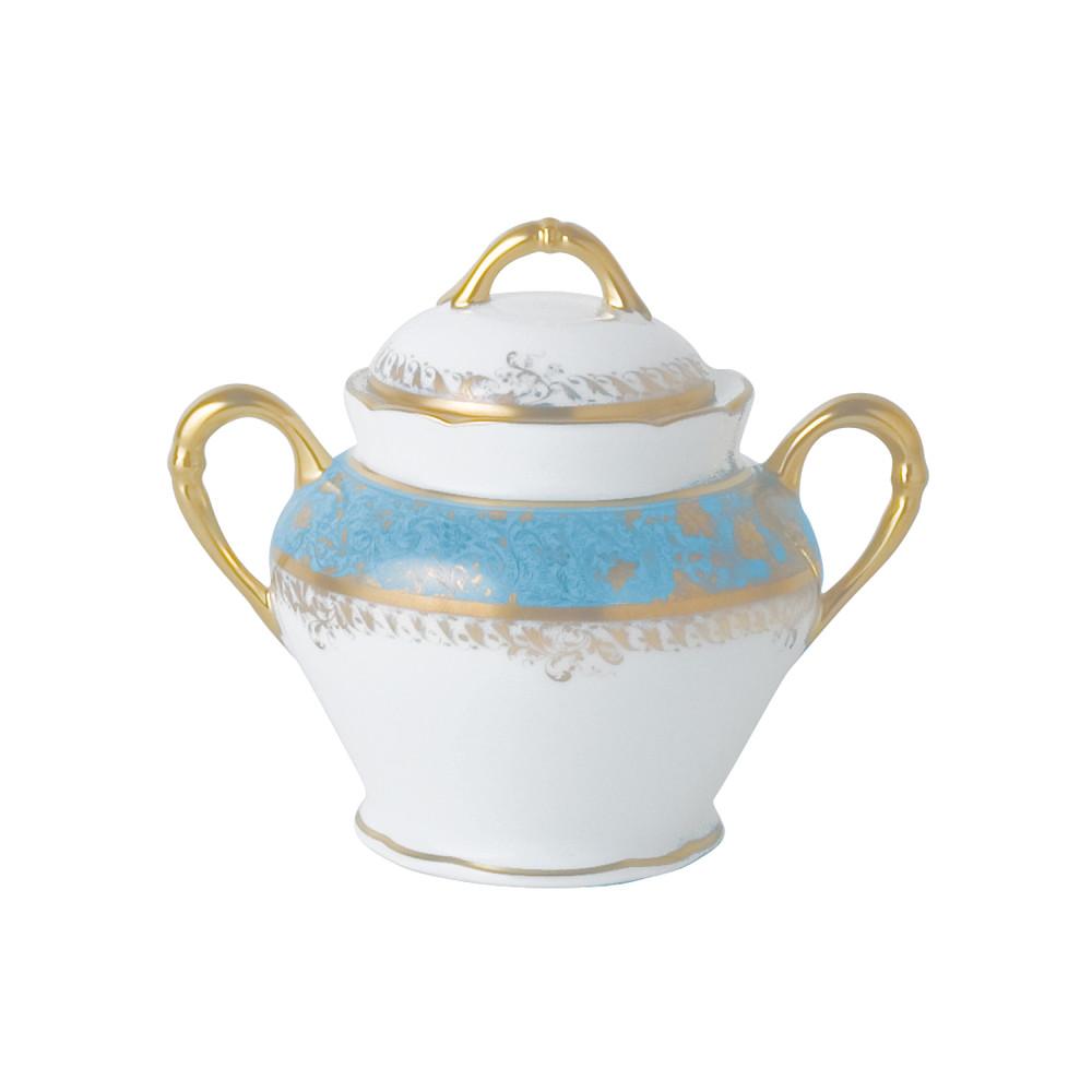 Bernardaud Eden Turquoise Suga r Bowl