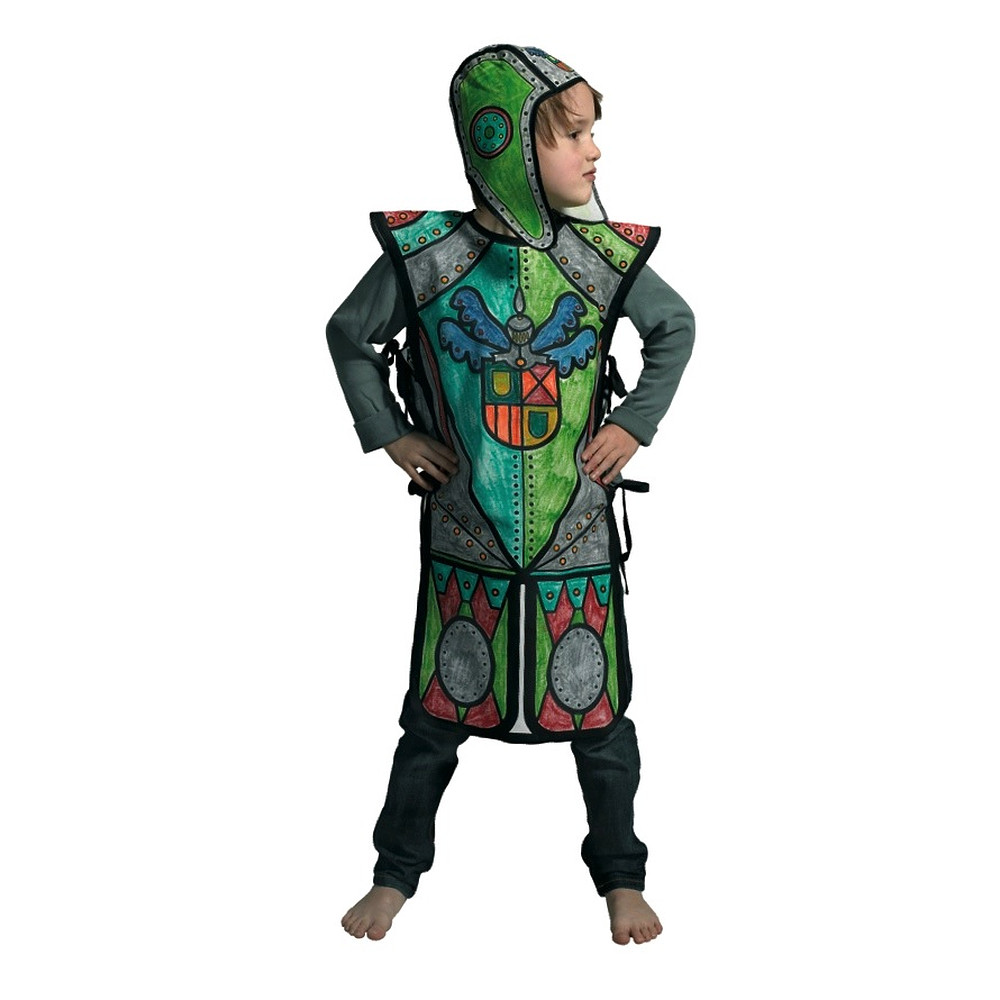 Knight costume and markers