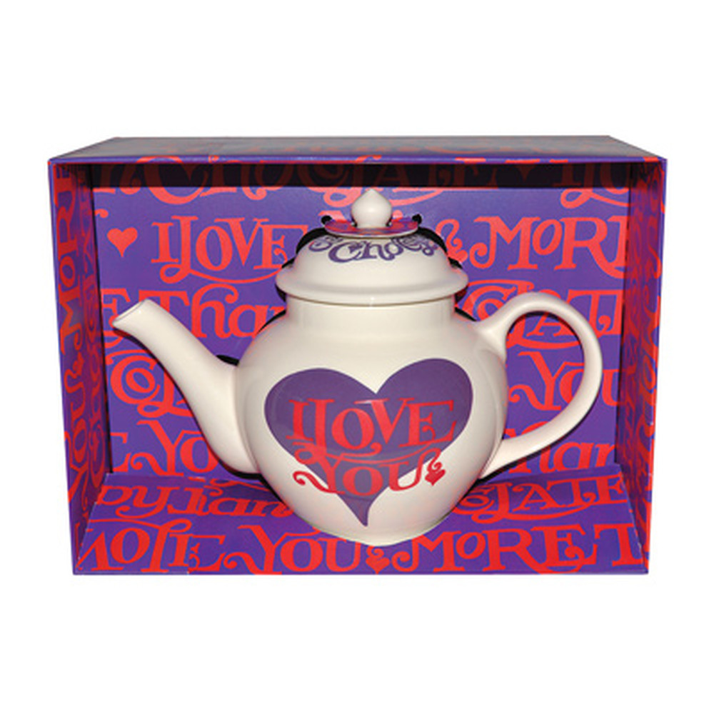 I Love Chocolate Boxed Teapot
