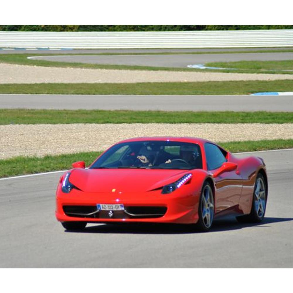 5 laps driving a Ferrari 458 I talia on the Hill circuit