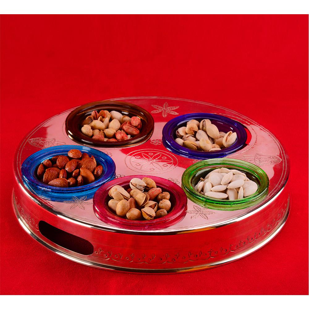 Lebanon Mezza Plate Round Silver 32cm