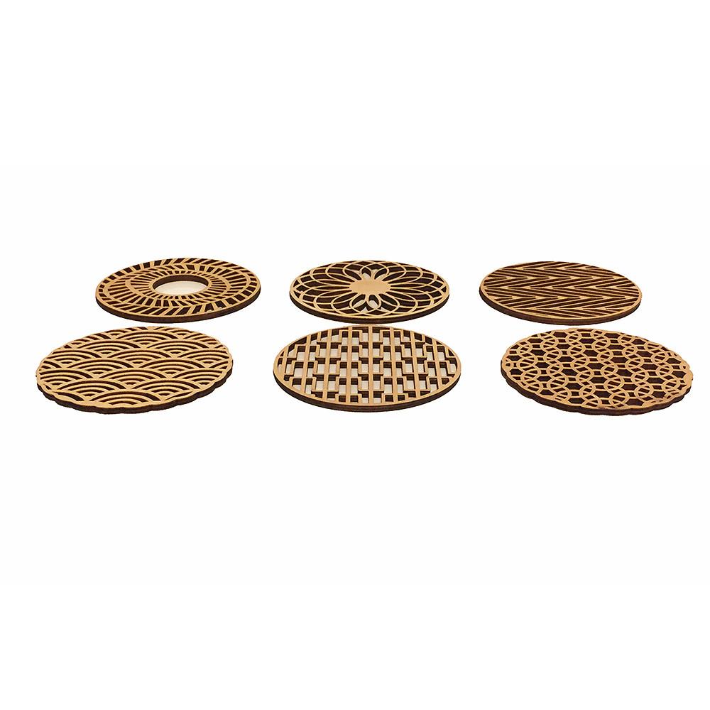 Deco Arabia 6 Wooden Coasters