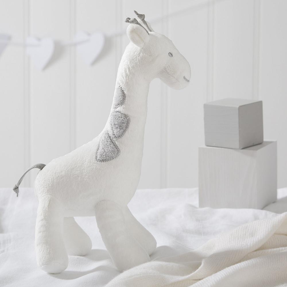 Georgia Giraffe Squeak Toy, White Grey