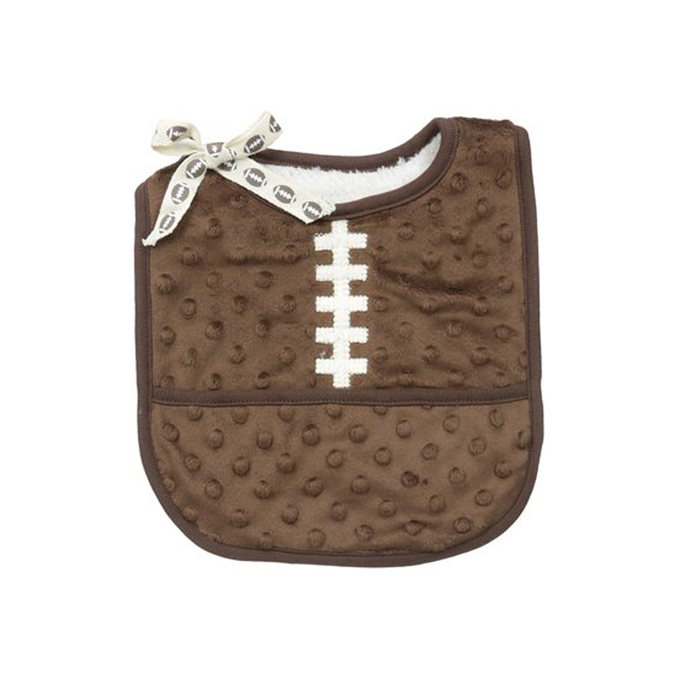 Mud Pie Football Pocket Bib