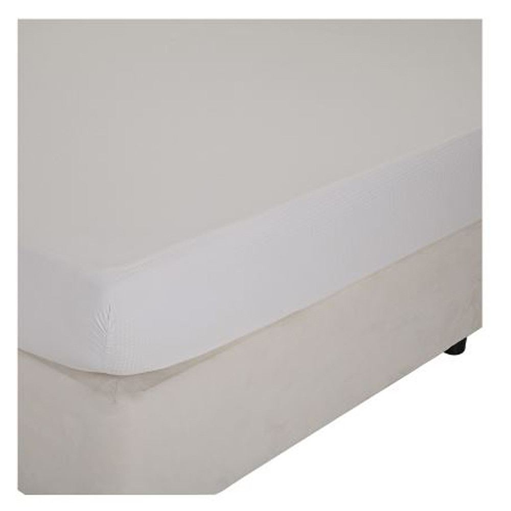Home Centre Indulgence King Fitted Sheet - 180x210cm White