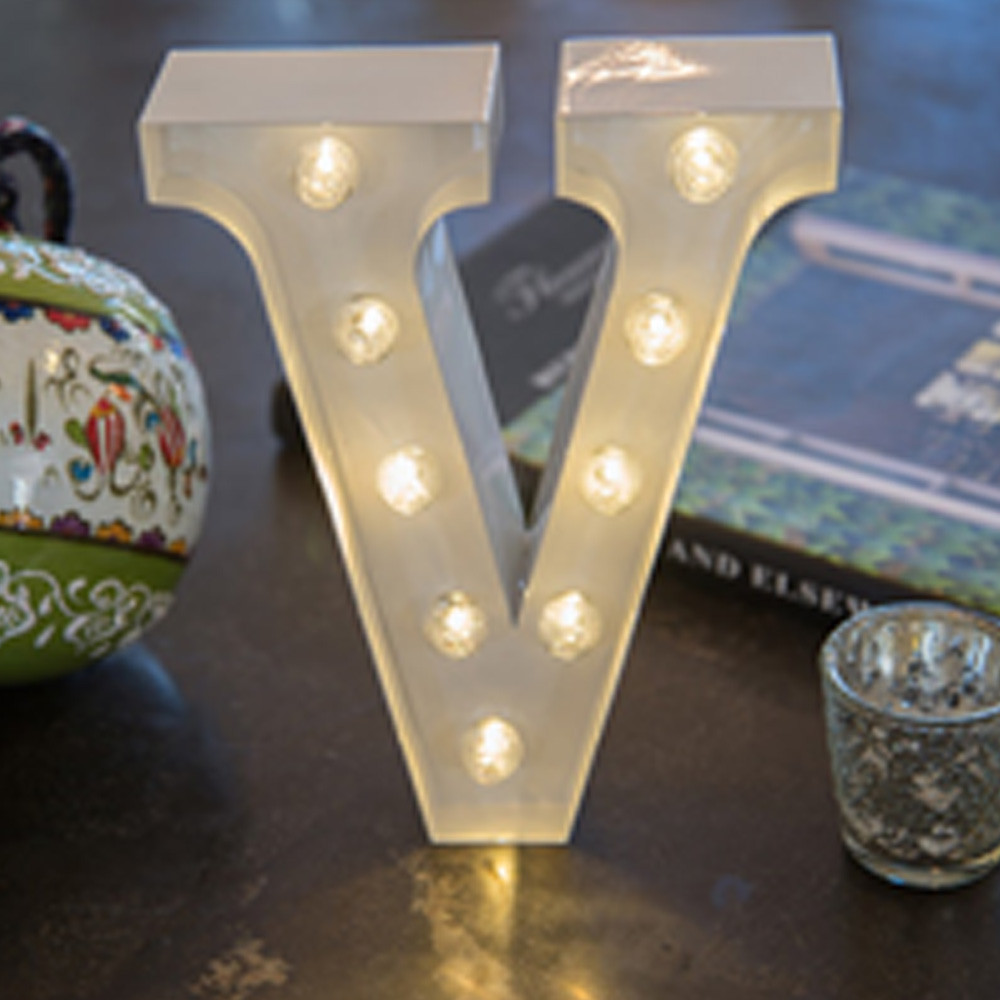 Lights & Letters White V