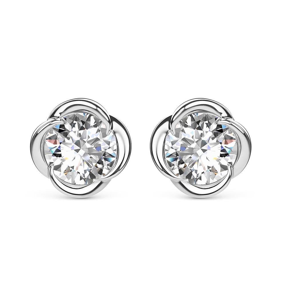 Damas Blossom Solitaire Earrings