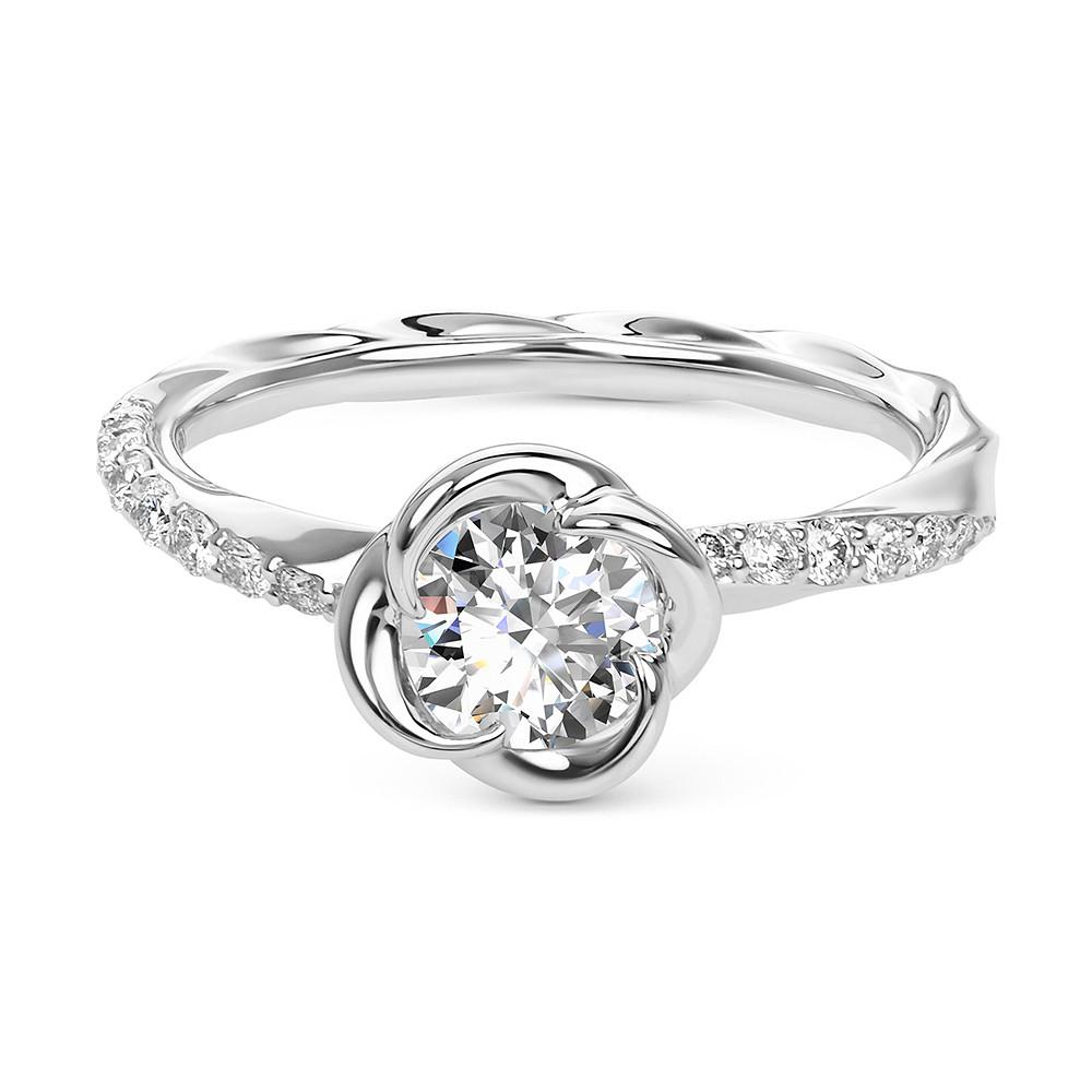 Damas Blossom Solitaire Ring