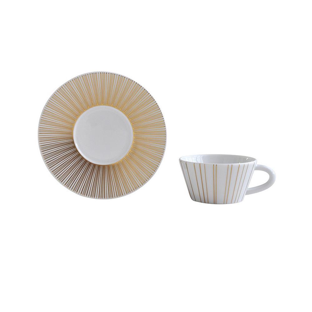 Bernardaud Sol Coffee Cup and Saucer