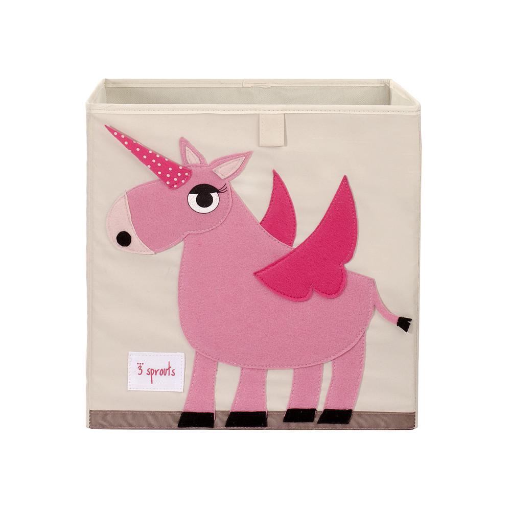 3 Sprouts Storage Box Unicorn