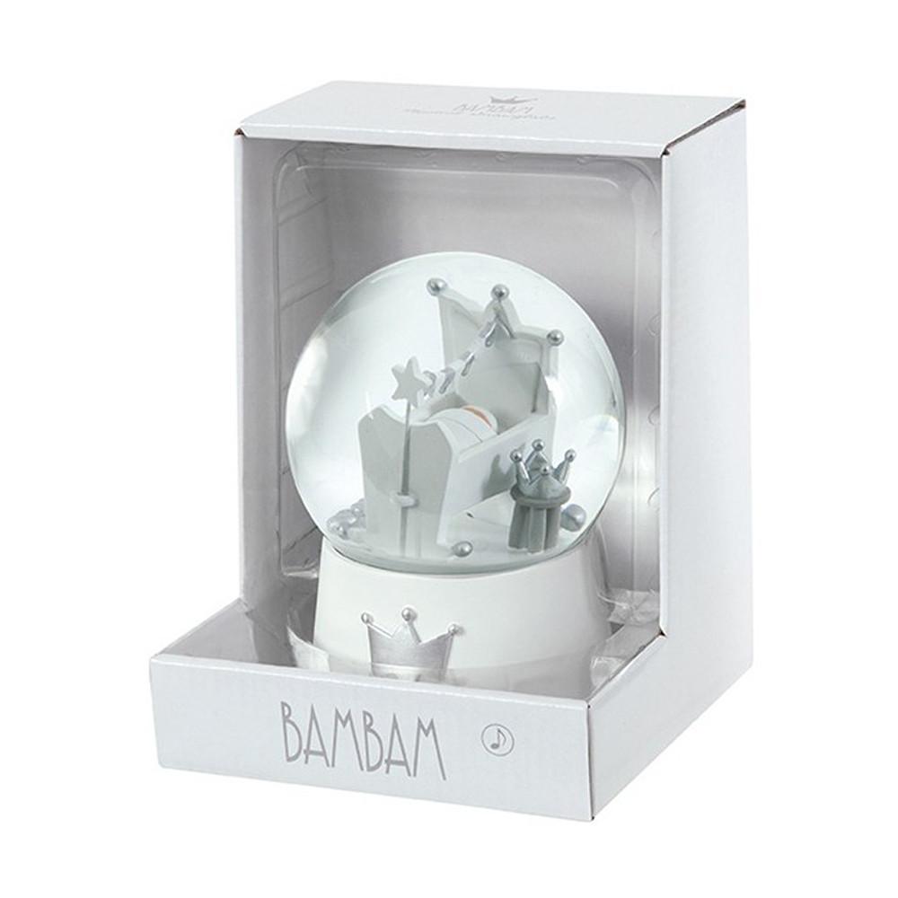 BamBam Snow Globe With Cradle