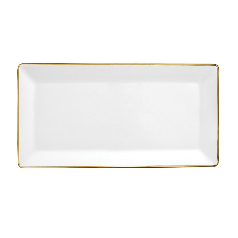 Porcel Sandwich Tray Golden 40cm