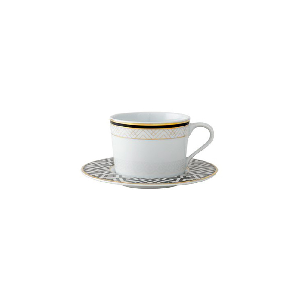 SPAL Art Deco Teacup&Saucer