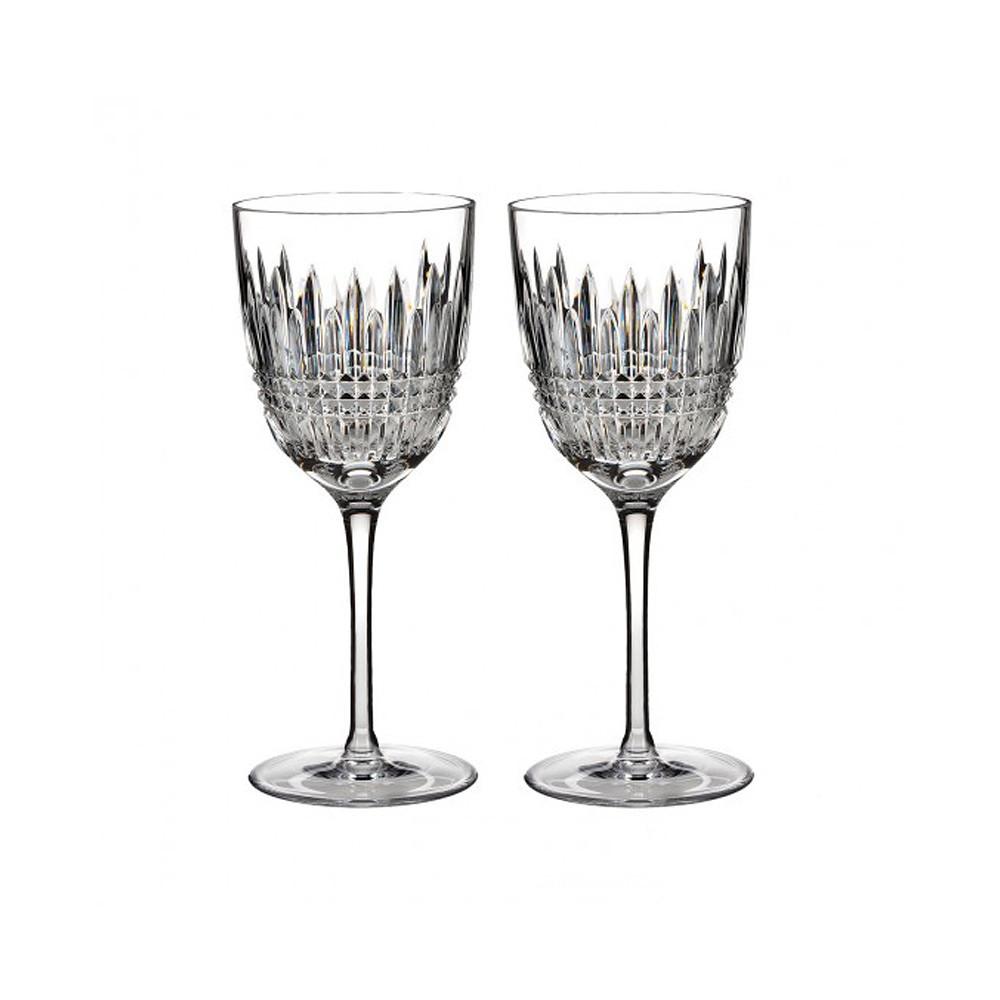 Waterford Lismore Diamond White Glass 2pcs